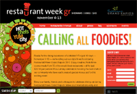 Restaurant Week Grand Rapids Website